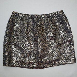 J.Crew Collection Floral Mini Skirt 6 silk blend